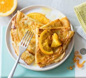 Recette des crêpes suzettes à l'orange en version allégée
