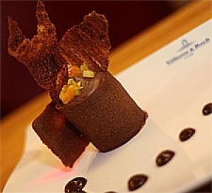 recette Choco Ho la la - Chantilly et tuile en chocolat