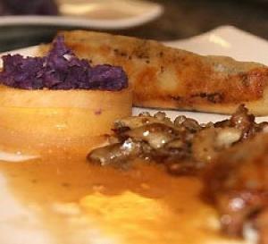 recette Cailles d'automne (cailles, topinambours, champignons)