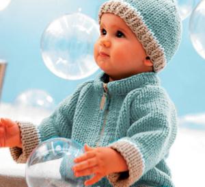 Modèles expliqués : ensemble layette, gilet et bonnet pour bébé