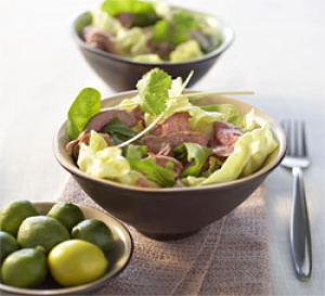 recette : salade d'agneau à la citronnelle