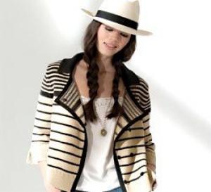 Veste couture à rayures à tricoter - Explications gratuites