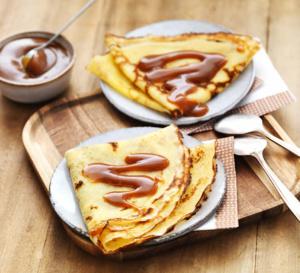 Recette de crêpes sans gluten et caramel au beurre salé