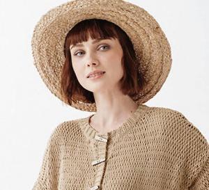 Modèle gratuit expliqué : gilet 100% coton tricoté au point rivière