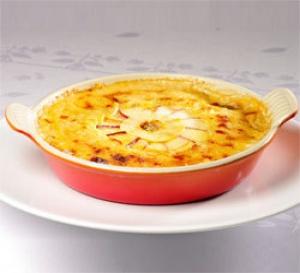 recette : gratin de cabillaud aux pommes Antarès® et pommes de terre