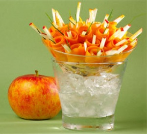 recette : salade de carottes et pommes Antarès®