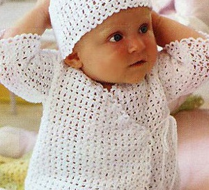 cache-coeur pour bébé au crochet, explications gratuites