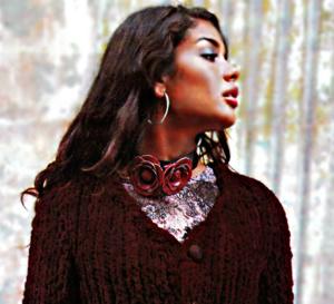 Vintage : gilet velours en maille XXL à tricoter - Explications gratuites