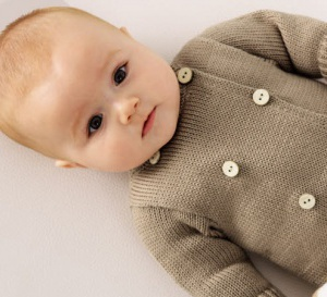 Tricot pour bébé - Combinaison manches longues au point jersey