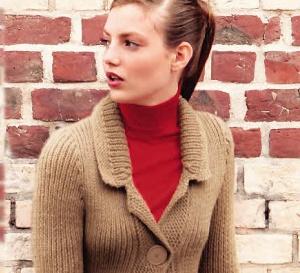 À tricoter : veste trapèze en côtes et point mousse - Explications gratuites