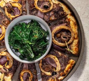 Recette de chef - La Pissaladière, oignons en tempura et anchois