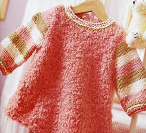 Robe layette à tricoter : explications gratuites
