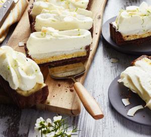 Spécial Chine : gâteau crème nuage, biscuit à la noix de coco et au citron vert