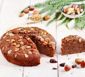 Recette simplissime de gâteau au chocolat, amandes et noisettes
