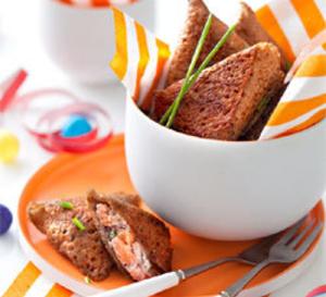 galettes au blé noir, saumon et oseille façon samoussa