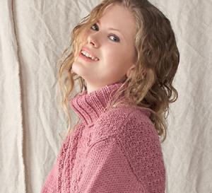 long pull à col roulé à tricoter - explications gratuites