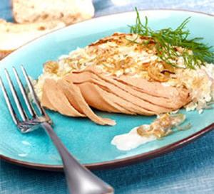 Filet de thon au naturel en conserve au chou fleur gratiné