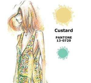 couleur CRÈME (Custard) interprétée par les créateurs