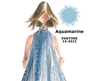 couleur AIGUE-MARINE (Aquamarine) interprétée par les créateurs