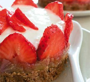 recette : cheesecake à la fraise et aux spéculoos