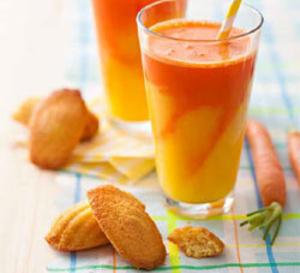 recette sucrée sans gluten : madeleines et smoothie d'été