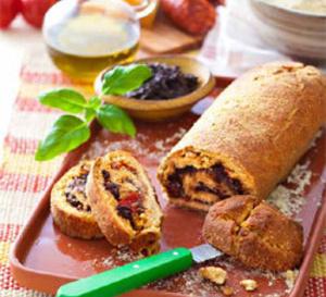 recette salée sans gluten : Pizza bread chorizo comté