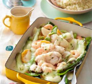 recette salée sans gluten : blanquette de lotte, légumes de saison
