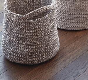 corbeilles, sac et panier à crocheter - explications gratuites
