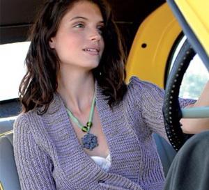 gilet court cache-cœur épinglé - tricot gratuit expliqué