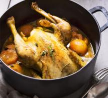 Poulet cocotte aux abricots et au cidre brut