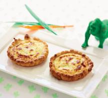 Petites quiches aux endives et au fromage frais aromatisé au citron