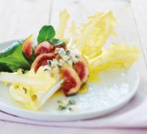 Salade fantaisie aux endives Barbucine®, roquefort et figues