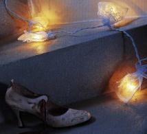 Guirlande lumineuse avec ruban brodé, à réaliser pour un décor de fête