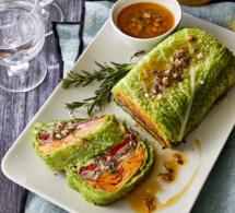Recette vegan de chef : chou farci aux légumes