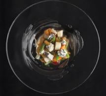 Recette de Pierre Gagnaire : tartare acidulé de fruits, légumes et Saint Agur