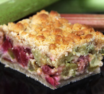 """""""Streussel"""" rhubarbe à l'ancienne - Une recette des Confitures du Climont"""