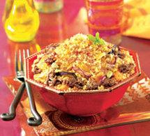 boulgour gourmand au boeuf épicé et aux amandes grillées