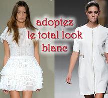 robes dentelles ou épurées en total look blanc