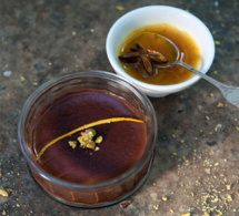 Recette énergie : crème poivrée au chocolat et au coulis d'orange