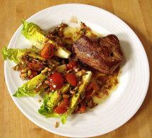 repas divin 5 : pavé de bœuf piqué au chorizo, sauce vierge et autres conseils gastronomiques