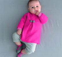 tricot layette : robe et chaussons pour bébé - explications gratuites