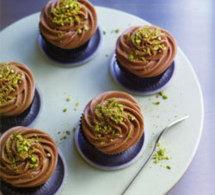 recettes de cupcakes : cupcakes pistaches et pépites de chocolat