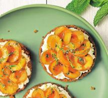 Tartelettes aux mirabelles de Lorraine, menthe et Spéculoos, sans cuisson au four
