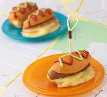recettes au fromage suisse : farandole des petits 'Hot Dog au Vacherin Mont d'Or AOC'