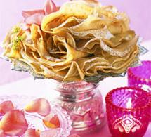 recette  : crêpes à l'eau de rose