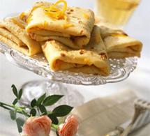 recette  : crêpes au thé et au zeste d'orange