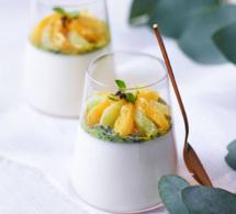 Recette de panna cotta aux agrumes et au basilic - Dessert de fête