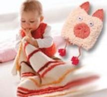 plaid et doudou à tricoter, explications gratuites