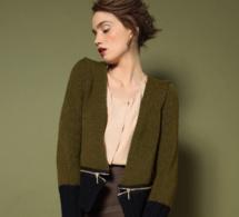 Veste bicolore à zips au point jersey - Explications gratuites