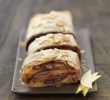 recette : tourbillon de pommes chocolatées au Nutella